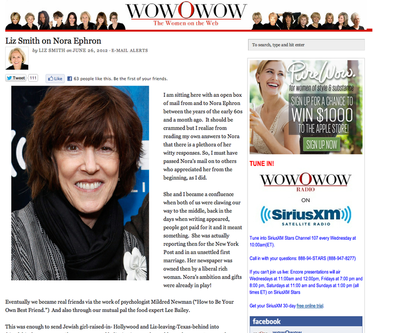 Washington Post Now Confirms Nora Ephron's Death [UPDATE]