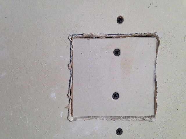 how to cut an inspection hole in drywall