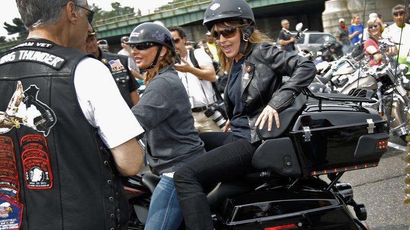 Sarah Palin on a Hog