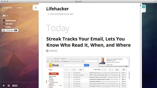 Sputnik Is a Pretty, Shortcut-Based Desktop RSS Reader