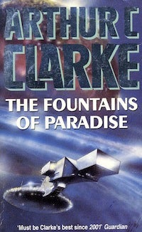 In Arthur Clarke's Fountains of Paradise, man makes tidy work of the heavens