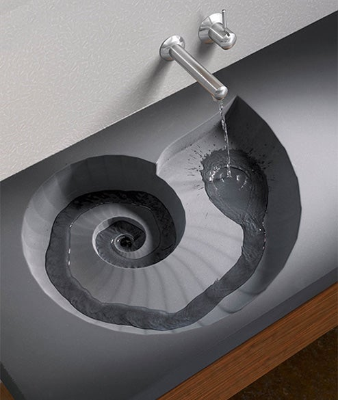 The Fossil Washbasin Will Hypnotize You Into Being Late For Work