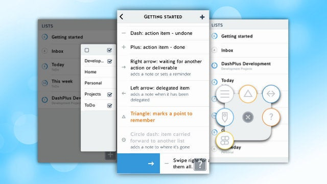 DashPlus Is a Powerful GTD-Style To-Do App with Gestures