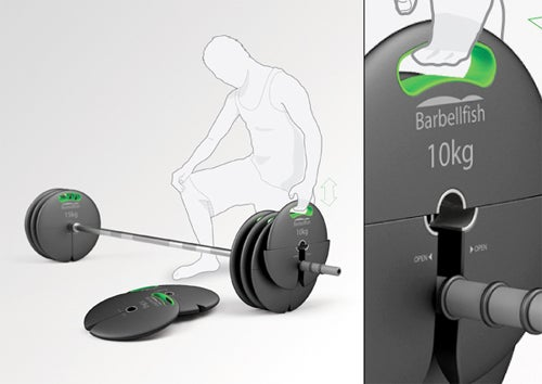 Barbells Redesigned With Top-Loading Weights