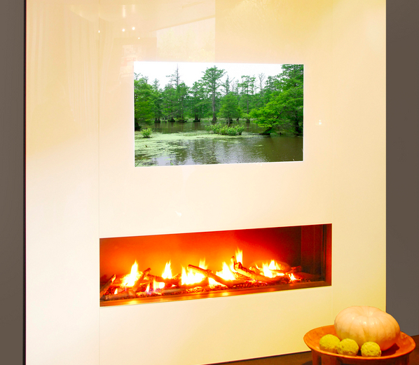 Fireplace-Full HD TV Hybrid Burns With Fiery Naffness