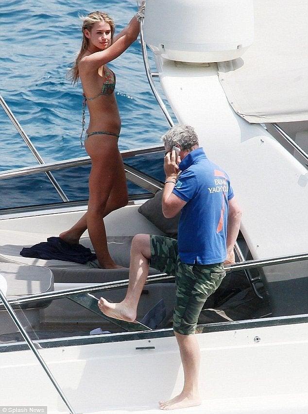 F1 Racer Eddie Irvine Being a Pimp on His Yacht...