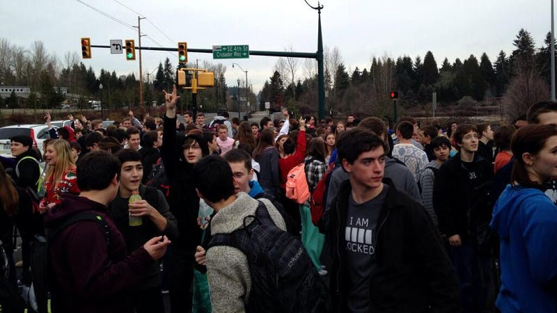 Awesome High School Students Stage Sit-In to Support Gay Vice Principal