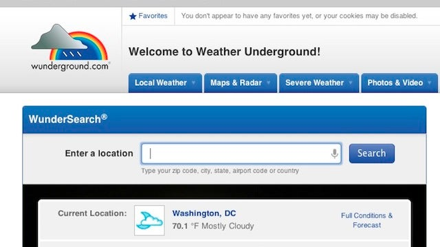 The Weather Channel Buys Up the Crowdsourced Weather Underground