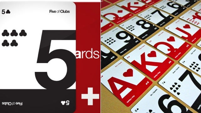 Daily Desired: Typography Makes These Playing Cards Beautiful