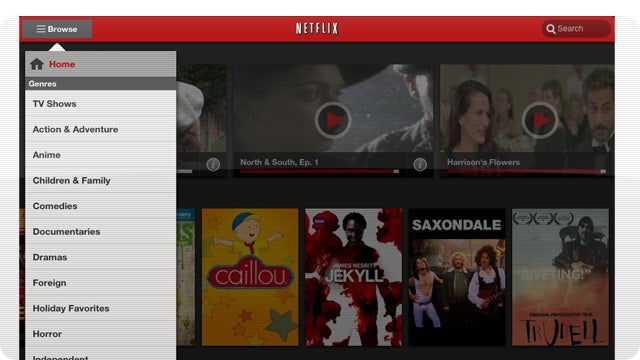 Netflix 2.0 for iPad Goes Beautifully Clutter-Free