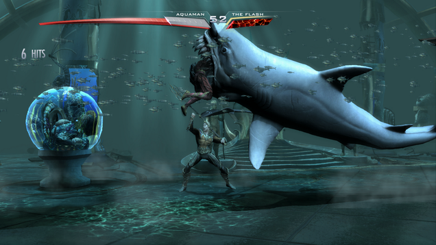 Funny batman fighting shark