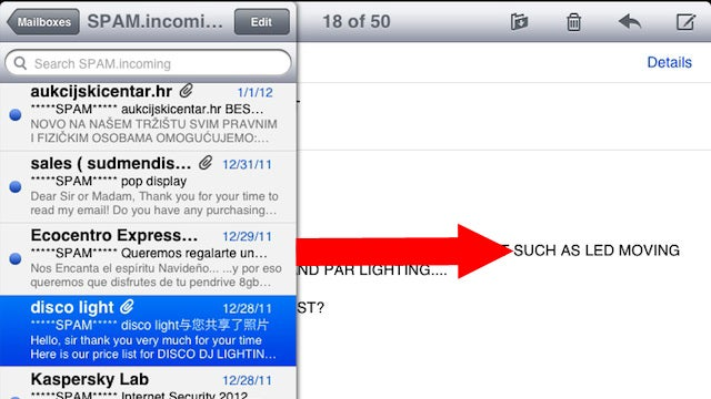 Swipe Right in Mail for iPad to Quickly Display the Inbox