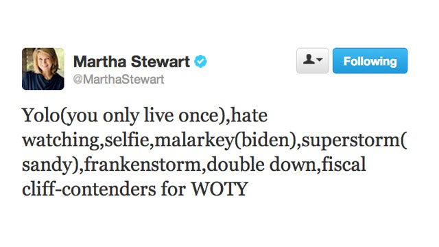 Stop Everything: Martha Stewart Just Typed Out the Word 'YOLO'