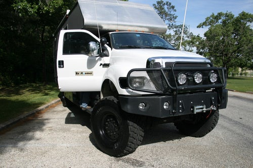 EcoRoamer Expedition Vehicle: Engine And Cab Exterior Photos