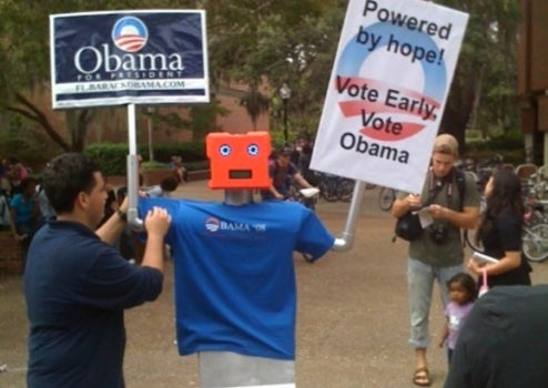 Presidential Election Rocks The Robot Vote