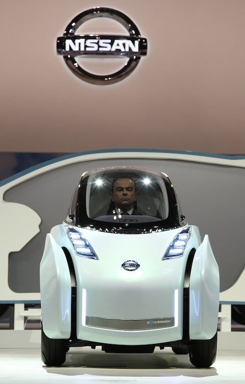 Carlos Ghosn's Decapitated Head Invades Tokyo In Nissan Land Glider
