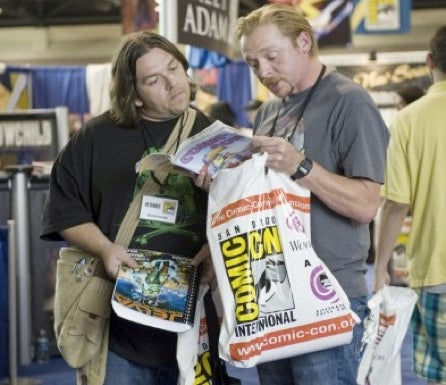 Simon Pegg and Nick Frost's alien road trip lands at Comic Con