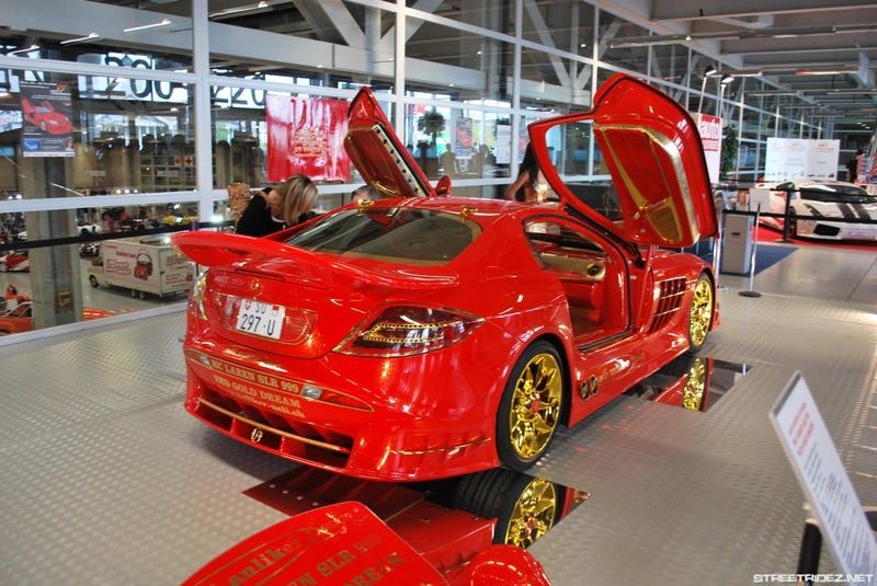 Ruby-Covered Red Gold Mercedes SLR: Ronald McDonald's Wet Dream