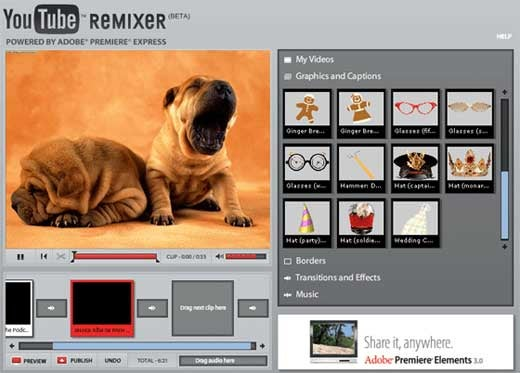 YouTube Remixer Brings Video Editing Online