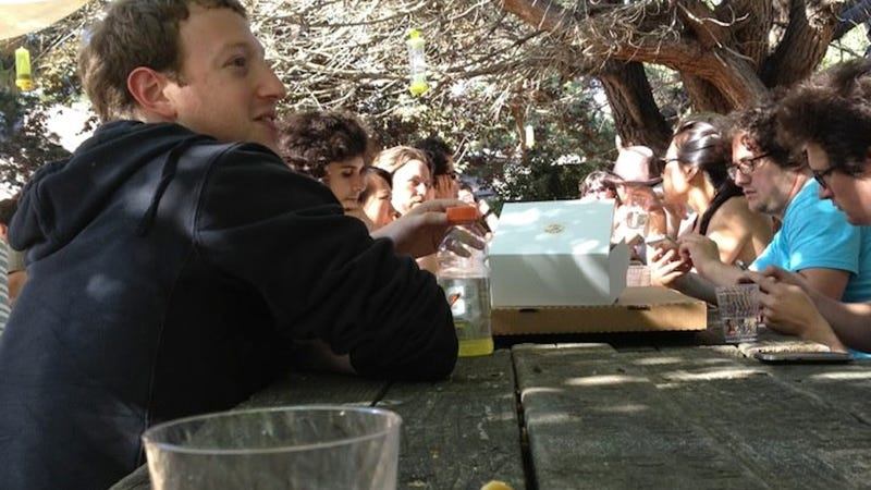 Mark Zuckerberg Drinking a Gatorade at a Beer Garden
