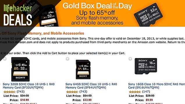 SD Cards Galore, Wireless Keyboard and Trackpad, GorillaPod [Deals]
