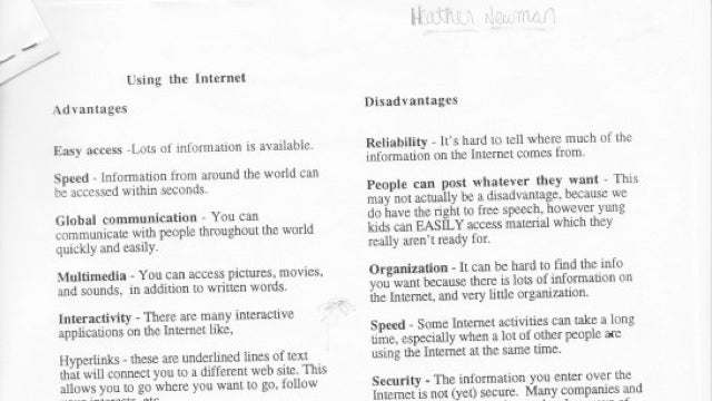 Using the Internet: A Guide for High Schoolers, Circa 1996