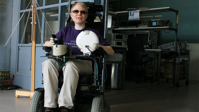 Laser Guided Wheelchair