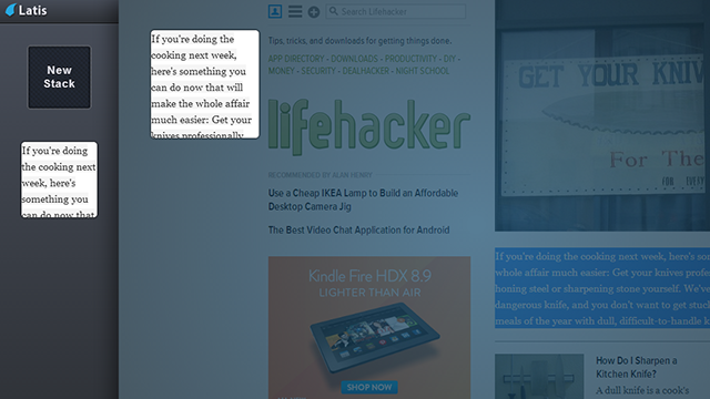 Latis Combines Bookmarks and Web Snippets in a Drag-and-Drop Sidebar