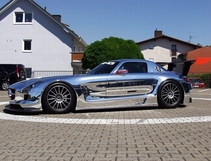 Lust Is A Chrome Mercedes SLS AMG GT3 Racer
