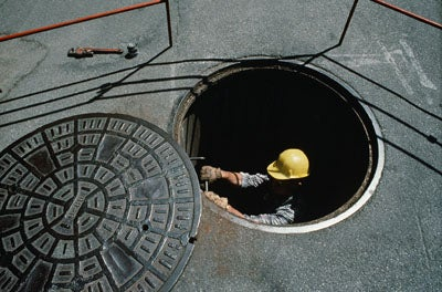 One Man's Mile-Long Sewer Journey Ends at Golf Tournament