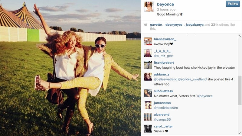 Beyoncé Vomited Old Solange Photos All Over Her Instagram This Morning