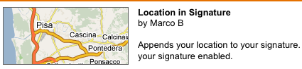 Gmail Offering Automatic Location-Based Signatures