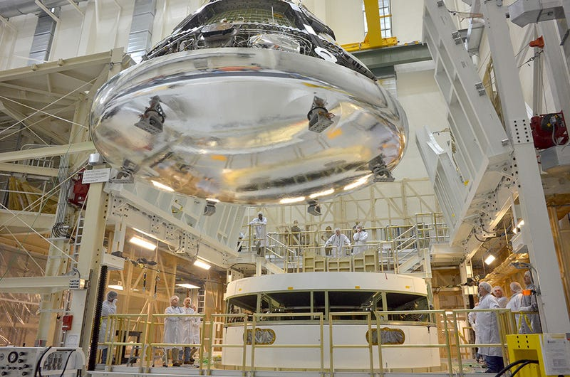 NASA's Orion crew module looks like a liquid metal alien spaceship