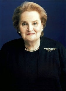 Former US Secretary Of State Albright Speaks In Second Life