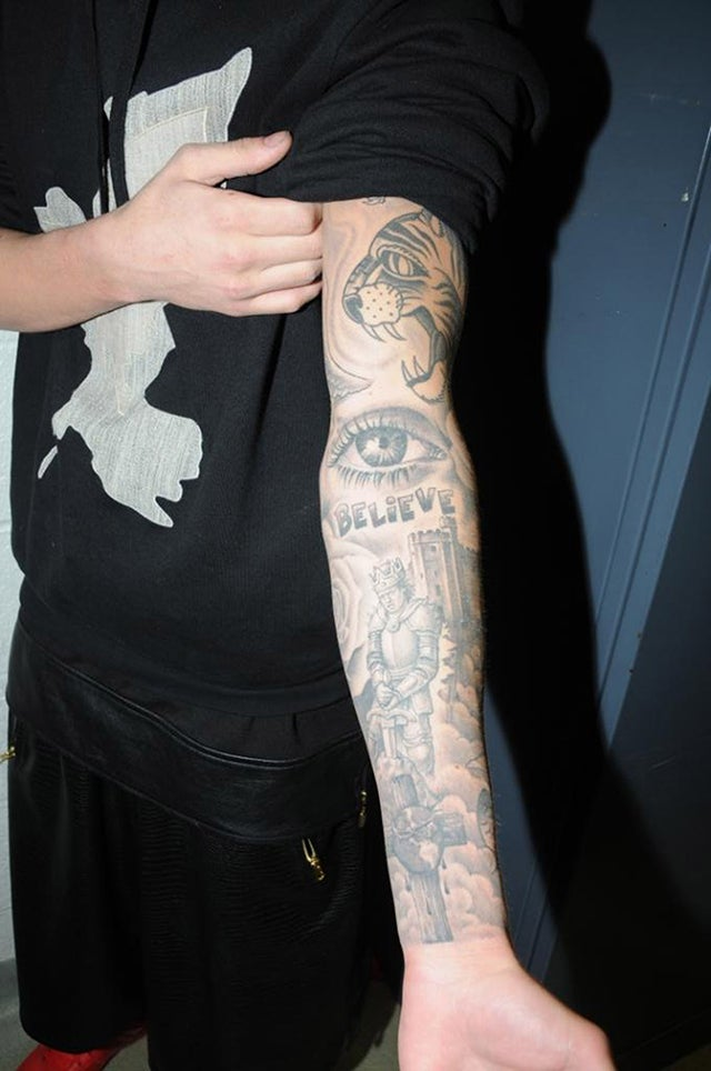 Justin Bieber's Tattoos Documented by the Miami PD: A Visual Analysis