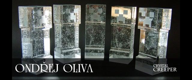 Crystal Minecraft Creeper Trophy