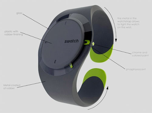 Redesigned Swatch Watch Concept Does Away With Scratched Faces