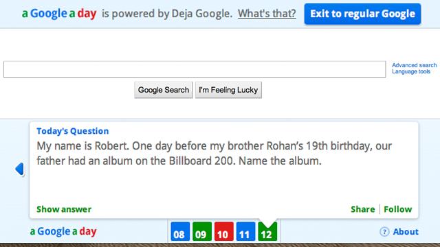 A Google A Day Keeps You Trivia-Ready