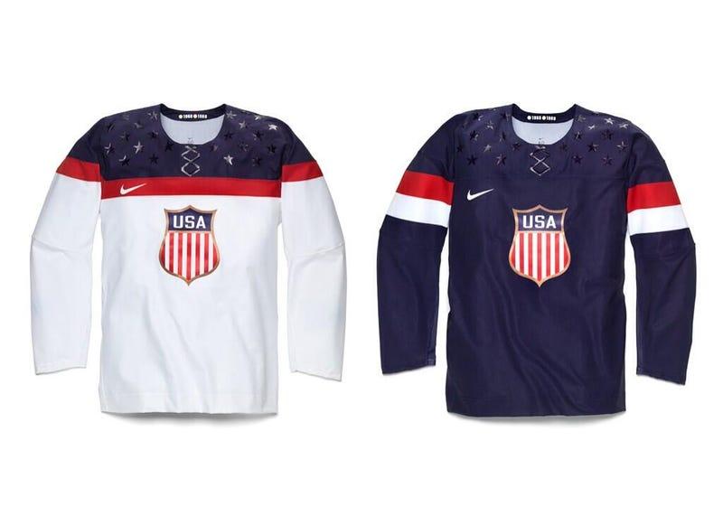 U.S. Olympic Hockey Jerseys Revealed
