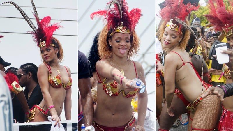 Rihanna Is A Scantily-Clad Bird In Paradise