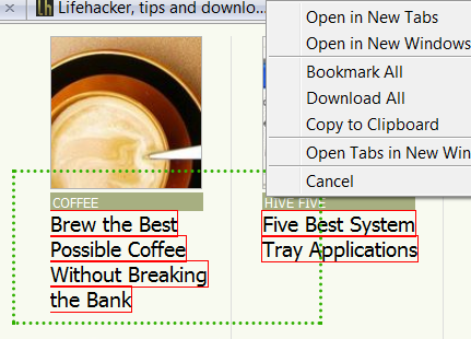Snap Links Plus Brings Multi-Link Selection to Firefox 3