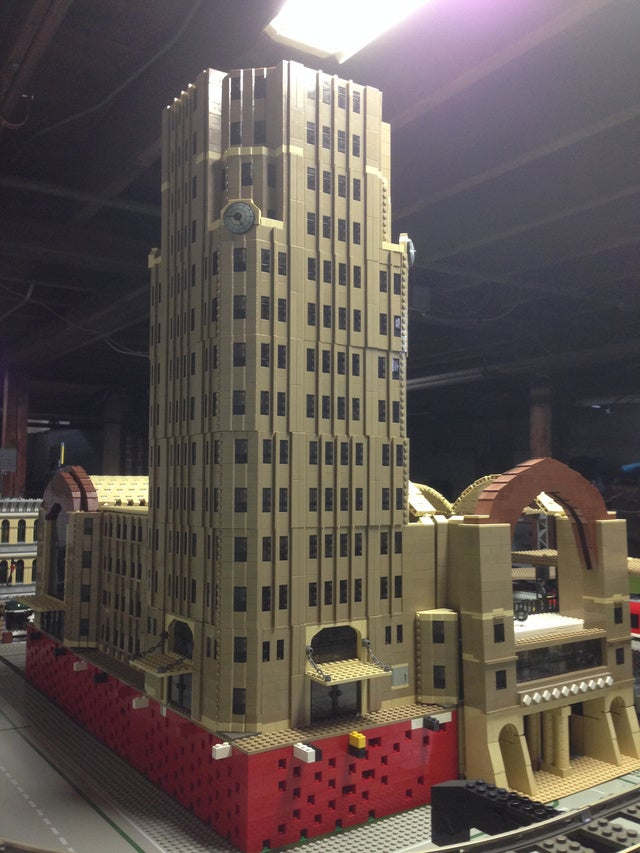 This all-LEGO train depot proves that everything really is awesome.