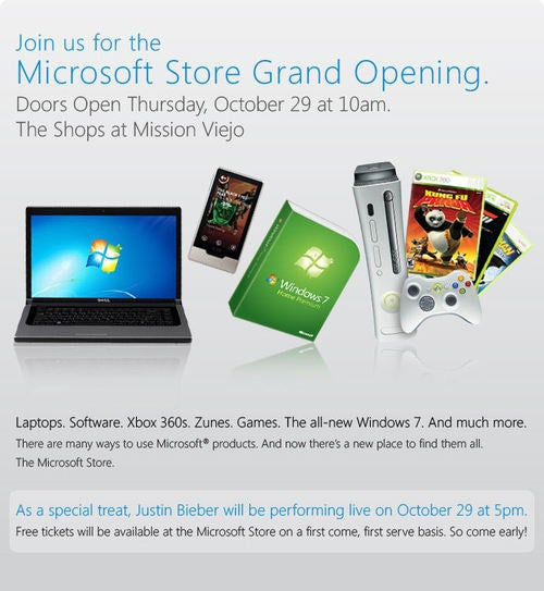 Microsoft's Store in Mission Viejo Opens Oct. 29