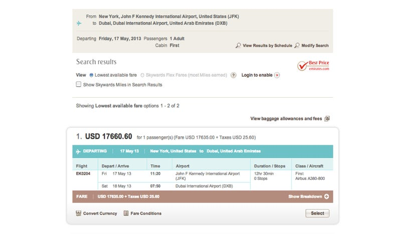 What's The Most Expensive Airline Ticket?
