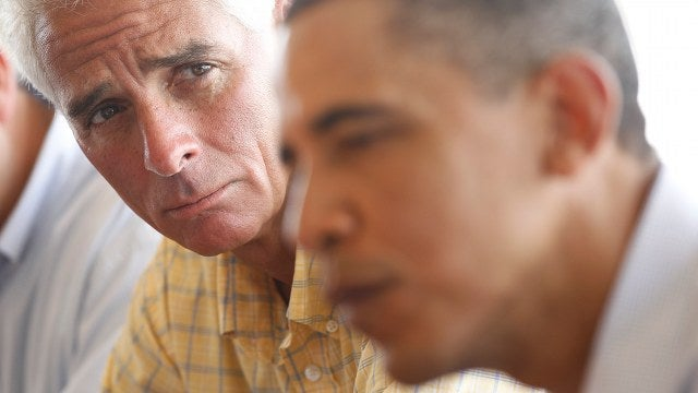 Former Republican Governor Charlie Crist Endorses Obama, Slams Republicans
