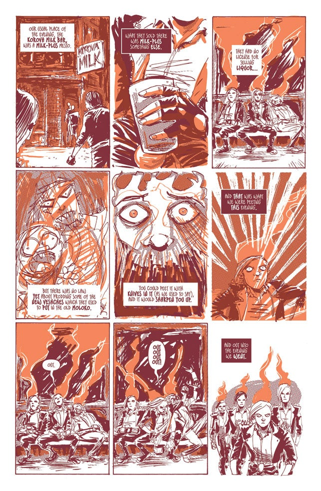 Chug some moloko and read this comic book pitch for A Clockwork Orange
