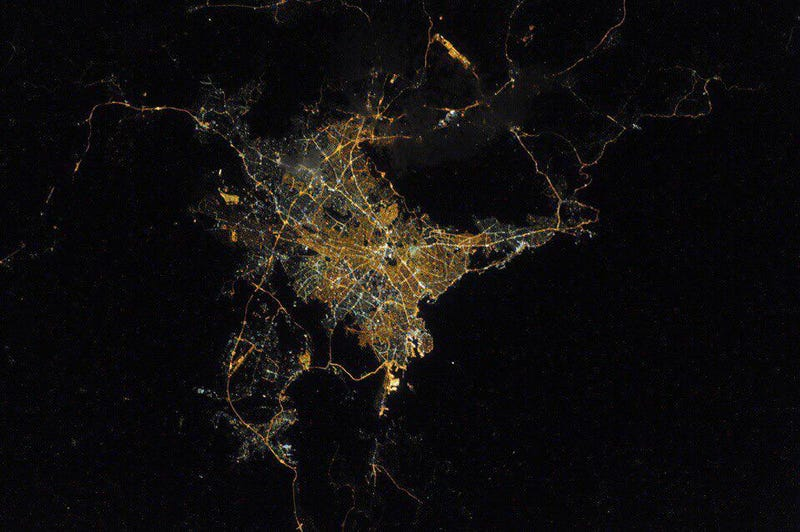 Past and Future Collide in This Gorgeous ISS Photo of Athens