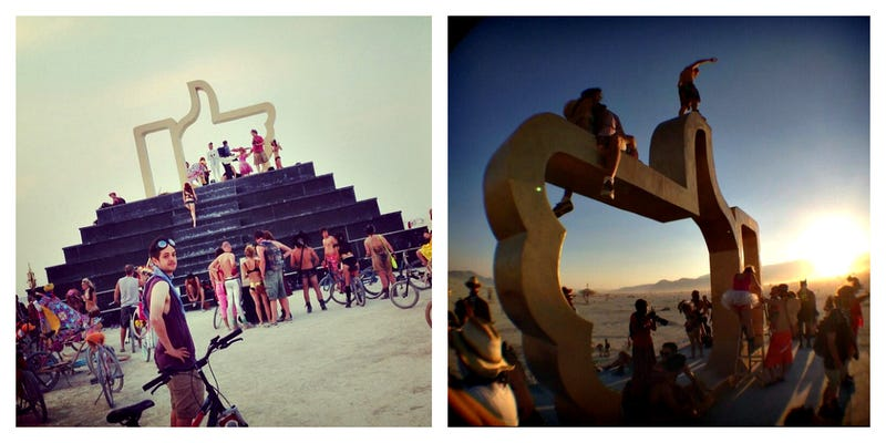 Burning Man Partied at the Altar of a Golden Facebook Like