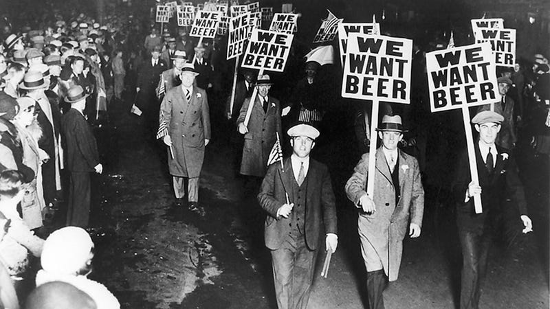 Prohibition protestors holding