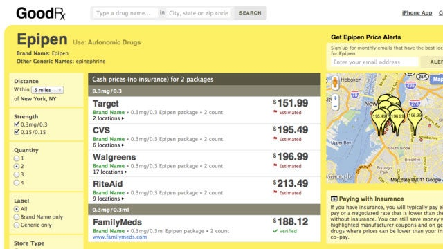 GoodRx Finds the Cheapest Prescription Drugs at Local and Online Pharmacies